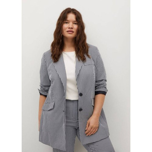 Veste de costume à carreaux - Violeta by Mango - Modalova