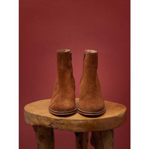 Boots cuir velours - CYRILLUS - Modalova