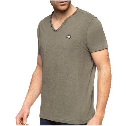 T-shirt slub manches courtes - SHILTON - Modalova