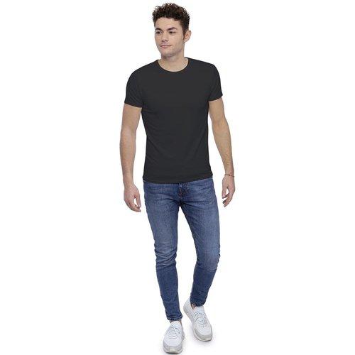 T-shirt col rond finition colletage manches courtes en modal THOMAS - RENDEZ-VOUS PARIS - Modalova