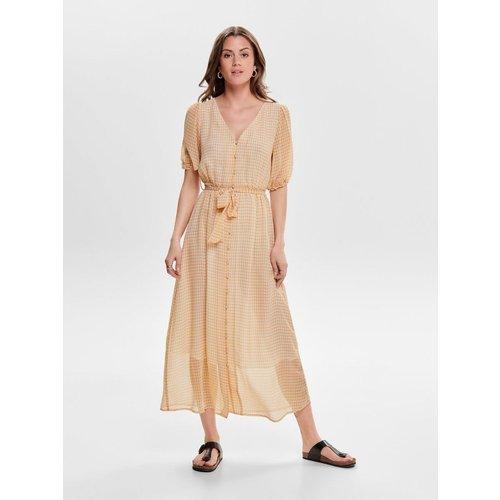 Robe longue Carreaux - Only - Modalova
