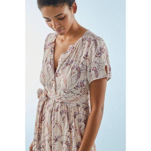 Robe courte à imprimé floral avec Fil textile - PABLO - Modalova