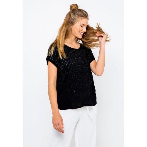 T-shirt irisé dentelle - CAMAIEU - Modalova