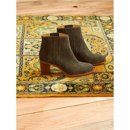 Boots chelsea cuir velours - CYRILLUS - Modalova