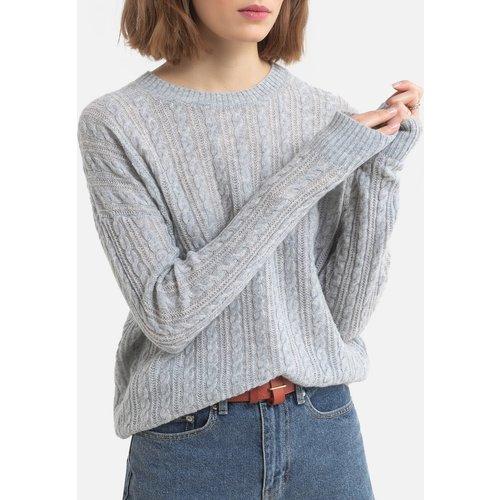 Pull torsadé en laine col rond en tricot - Tommy Hilfiger - Modalova