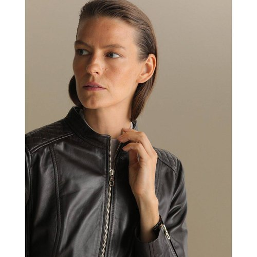 Blouson biker 100 % cuir - WOMAN EL CORTE INGLES - Modalova