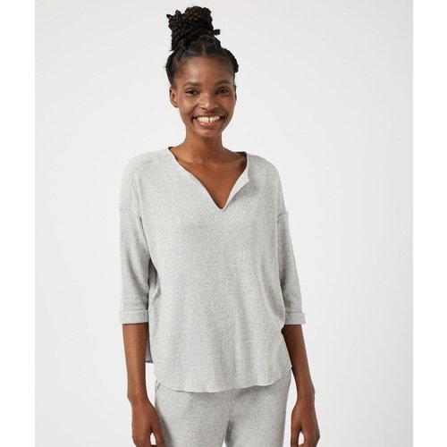 T-shirt pyjamamanches longues côtelé DOOM - ETAM - Modalova
