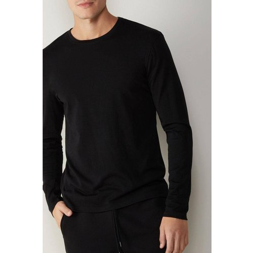 T-Shirt manches longues en laine mérino col rond - INTIMISSIMI - Modalova