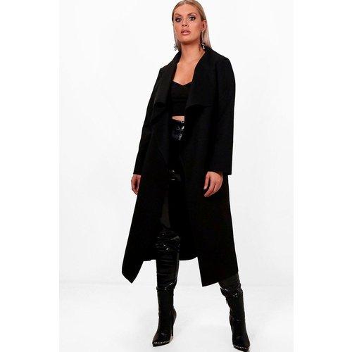 Manteau mi-long col montant - BOOHOO CURVE - Modalova