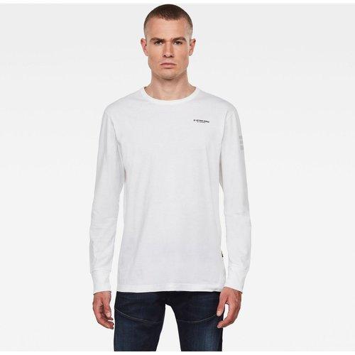 T-Shirt Col Rond Manches Longues Imprimé - G-Star Raw - Modalova