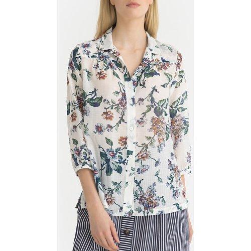 Chemise à fleurs en voile de coton ELEA - Gerard Darel - Modalova