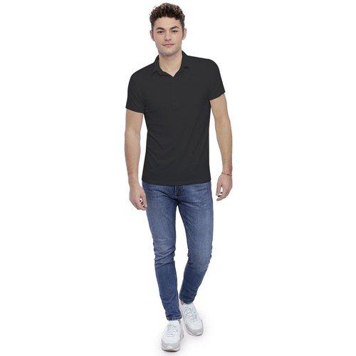 Tee-shirt col polo boutonné manches courtes en modal JOSH - RENDEZ-VOUS PARIS - Modalova
