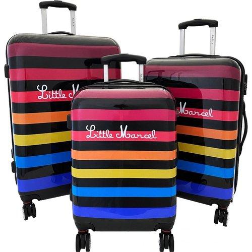 Lot 3 valises rigides dont 1 valise cabine abs - LITTLE MARCEL - Modalova