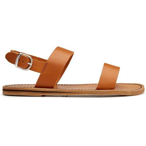 Sandales plates cuir lisse - BRADOR - Modalova