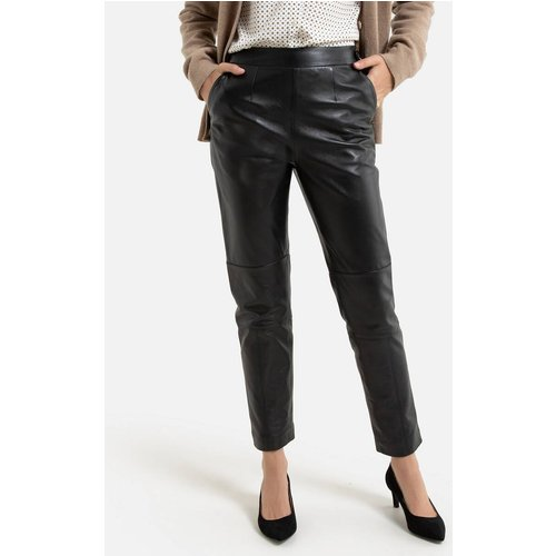 Pantalon 7/8ème droit, en cuir de mouton - Anne weyburn - Modalova