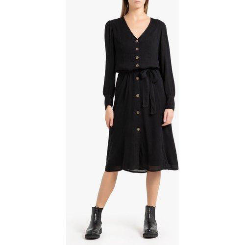 Robe boutonnée à manches longues NINON BLACK - PETITE MENDIGOTE - Modalova