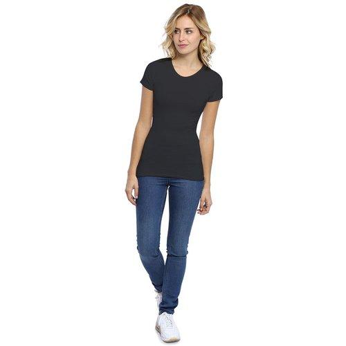 T-shirt ras du cou manches courtes en modal KATY02 - RENDEZ-VOUS PARIS - Modalova