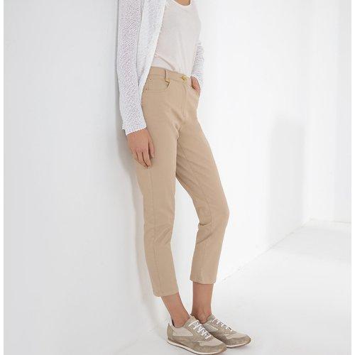 Pantalon droit 7/8ème, coton stretch - Anne weyburn - Modalova