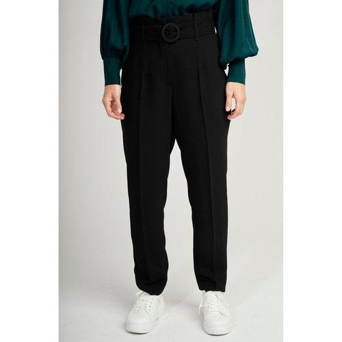 Pantalon taille haute avec ceinture - Naf Naf - Modalova