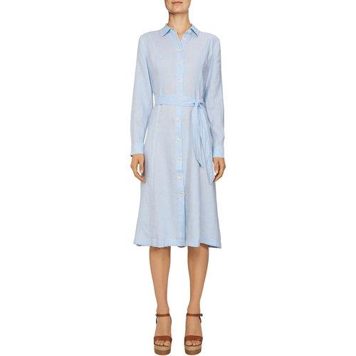 Robe chemise en lin à manches longues - Tommy Hilfiger - Modalova