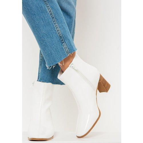 Boots blanches à talons - CAMAIEU - Modalova