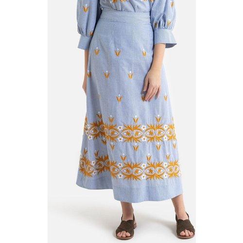 Jupe trapèze en pur coton rayé et broderies MEXICA - Antik batik - Modalova
