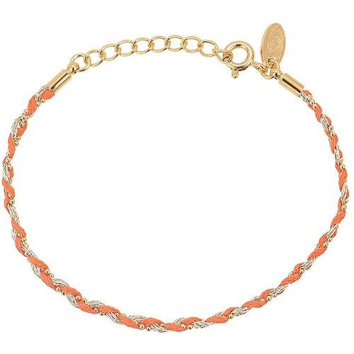 Bracelet doré à l' fin cristal vert CANCUN - CAROLINE NAJMAN - Modalova