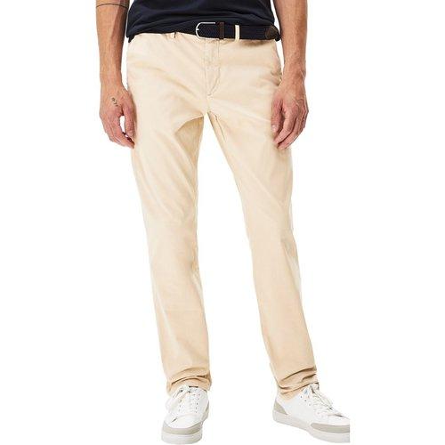 Chino straight coton stretch avec ceinture POBELT - Celio - Modalova