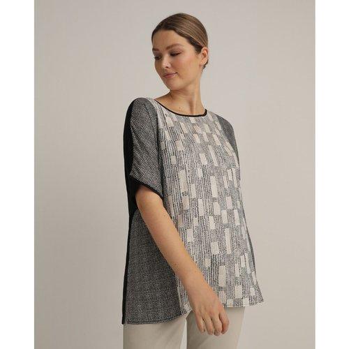 Tshirt bimatière imprimé - COUCHEL - Modalova