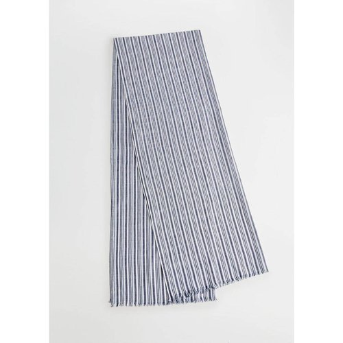 Foulard coton à rayures - mango man - Modalova