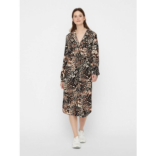 Robe-chemise Mi-longue imprimée - Pieces - Modalova