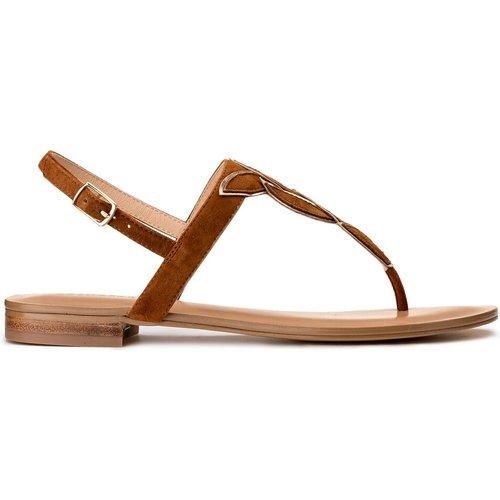 Sandales cuir plates entre-doigt Hibali - COSMOPARIS - Modalova