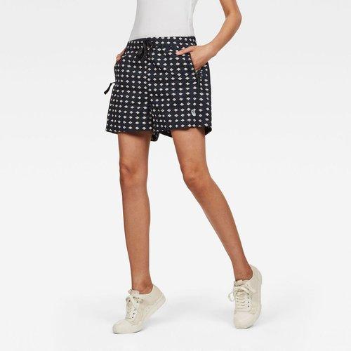 Short Taille Haute Imprimé - G-Star Raw - Modalova