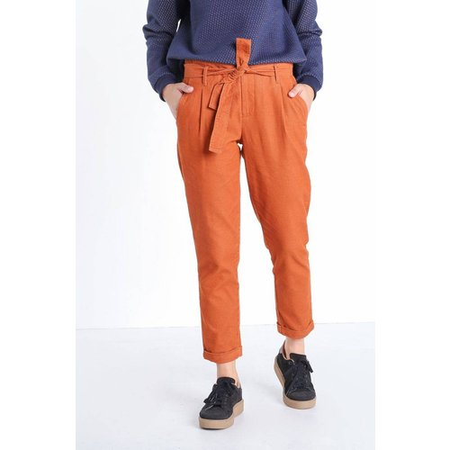 Pantalon carotte effet velours - BONOBO - Modalova