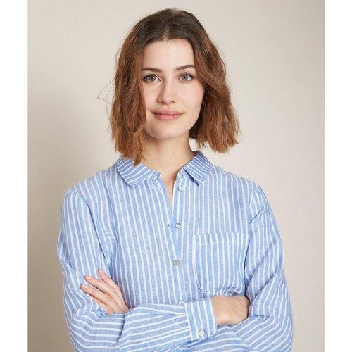 Chemise rayée en lin manches longues VENETIA - Maison 123 - Modalova