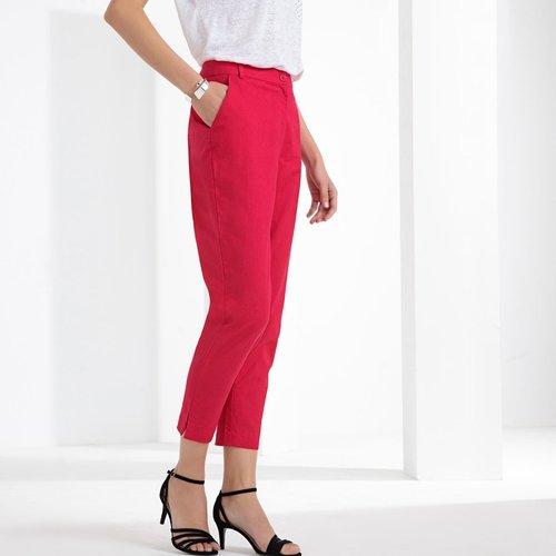 Pantalon droit 7/8ème, lin et coton - Anne weyburn - Modalova