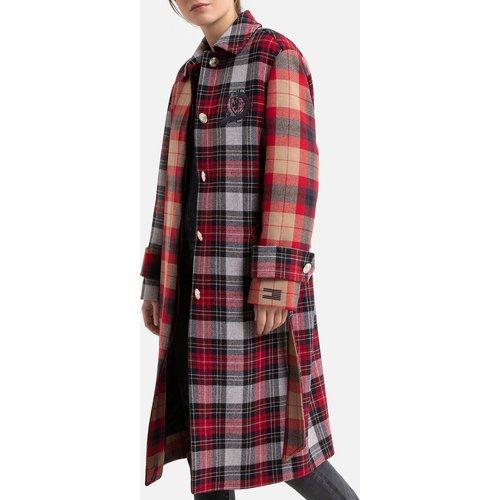 Manteau à carreaux ceinturé - Tommy Hilfiger - Modalova
