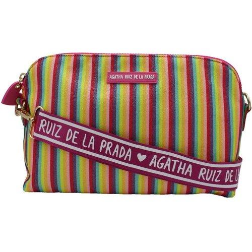Grand sac à bandoulière à rayures et paillettes - AGATHA RUIZ DE LA PRADA - Modalova