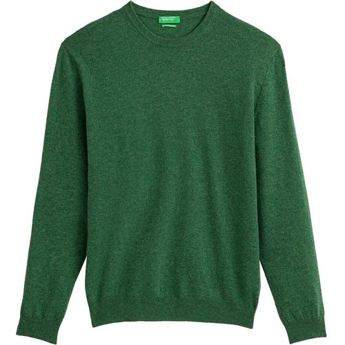 Pull col rond en laine vierge - Benetton - Modalova