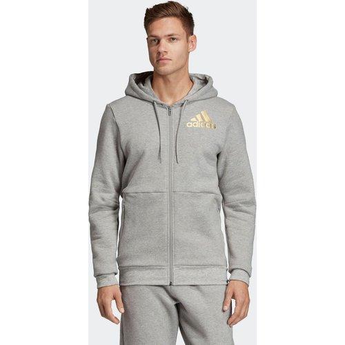 Veste à capuche Sport ID Full-Zip - adidas performance - Modalova