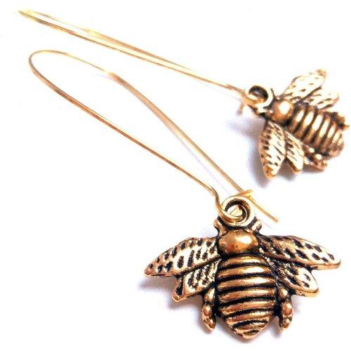 Boucles d'oreilles abeilles laiton - JUL&FIL - Modalova