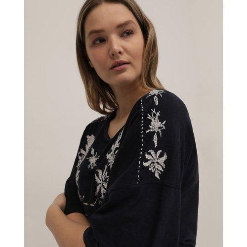 Chemise avec broderie à manches courtes - COUCHEL - Modalova