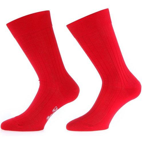 Chaussettes colorées en fil d'Ecosse - BRUCE FIELD - Modalova