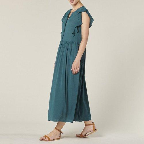 Robe longue à manches courtes volantées DESIRE - Harris wilson - Modalova