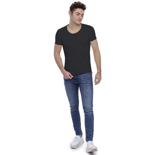 T-shirt col rond dégagé manches longues en modal THIERRY - RENDEZ-VOUS PARIS - Modalova
