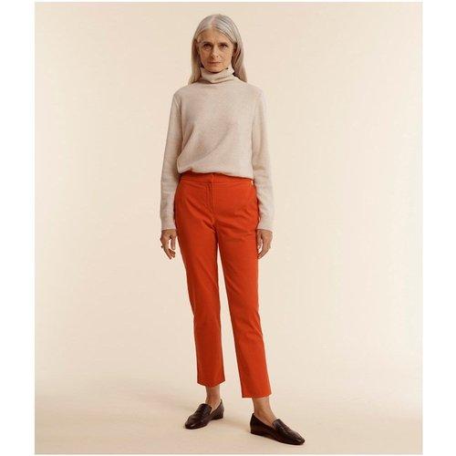 Pantalon coton stretch - DEVERNOIS - Modalova