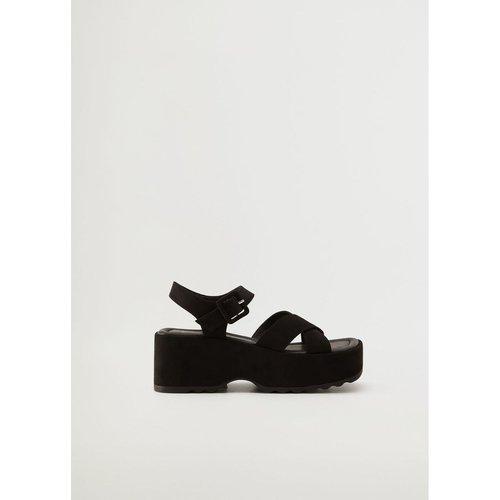 Sandales lanières plateforme - Mango - Modalova