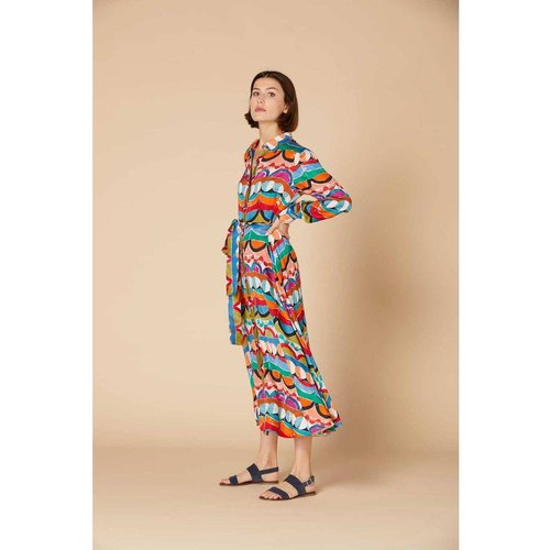 Robe chemise imprimée satinée - Modèle Celebre - DERHY - Modalova
