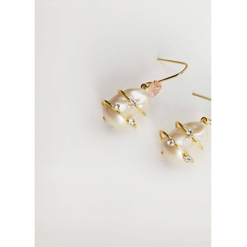 Boucles d'oreilles détail perle - Mango - Modalova