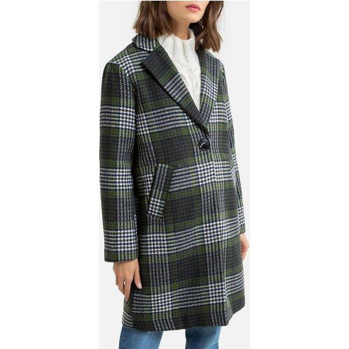 Manteau mi-long à carreaux, boutonné - Pieces - Modalova